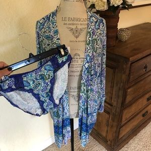 💙💚 Soma Robe and panties Set